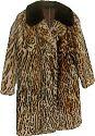 |Mantel aus geschorenem und bedrucktem Lammfell