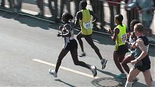 Marathon Anstrengung und Anmut
