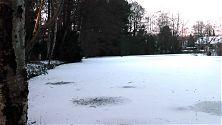 Leichte Schneeverwehungen