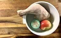 Hähnchen, Topf, Apfel & Reis - Pfoten lieben das