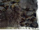 |Pelzdecke Nr16 aus Fuchs, Kaninchen im Detail
