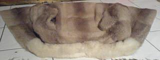 Sezieren einer Pelzjacke - vorher - Fellseite