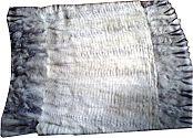 Pelzdecke Nr20 Blaufuchs weiß
